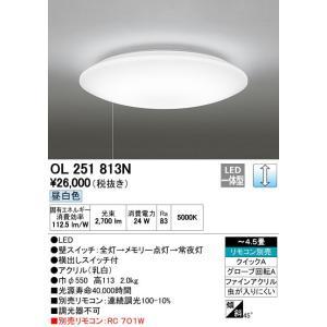オーデリックLED ECO BASICひきひも調光タイプベーシックタイプシーリングライト[LED昼白色][〜4.5畳]OL251813N|terukuni
