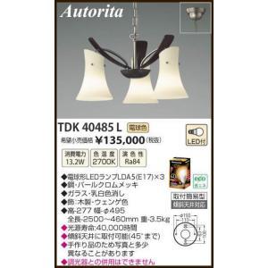 TDK40485L Autorita アウトリタ イタリア製  チェーン吊シャンデリア [LED電球色] アカネライティング terukuni