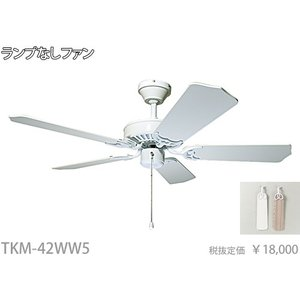 TKM-42WW5 白  シーリングファンのみ  東京メタル工業|terukuni