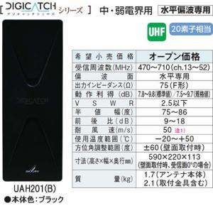 DXアンテナDIGICATCH デジキャッチシリーズUHF平面アンテナ (ブラック)UAH201-Bあすつく|terukuni