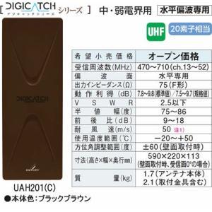 UAH201-C DIGICATCH デジキャッチシリーズ  UHF平面アンテナ  (ブラックブラウン) あすつく DXアンテナ|terukuni