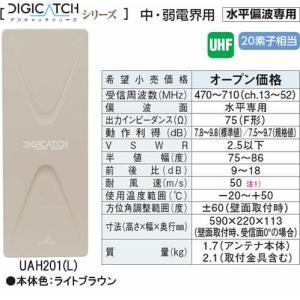 UAH201-L DIGICATCH デジキャッチシリーズ  UHF平面アンテナ  (ライトブラウン) あすつく DXアンテナ|terukuni