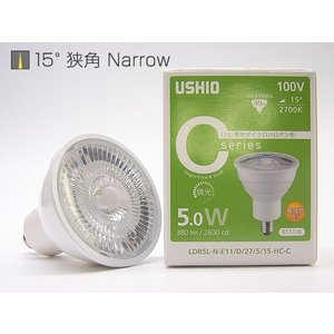 LDR5L-N-E11D27515-HC-C Cシリーズ JDR40W相当 LED電球ダイクロハロゲン形 [LED電球色2700K][狭角15度] あすつく USHIO|terukuni