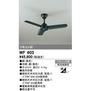 WF403 ACモーターファン スチールファン  シーリングファン本体+パイプ [ブラック] オーデリック terukuni