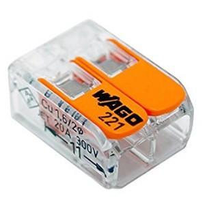 WFR-2  [あすつく] ワゴジャパン WAGO(ワゴ) 差込みコネクター WFRシリーズ2穴用 100個入り|terukuni
