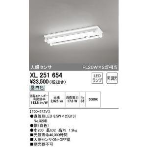 XL251654 LED-TUBE レッド・チューブ ランプ型 人感センサー付 LEDベースライト [LED昼白色] オーデリック|terukuni