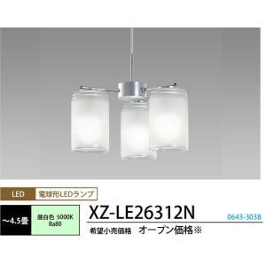 シャンデリアデュアルクロームコード吊小型シャンデリア[〜4.5畳][LED昼白色]XZ-LE26312N|terukuni