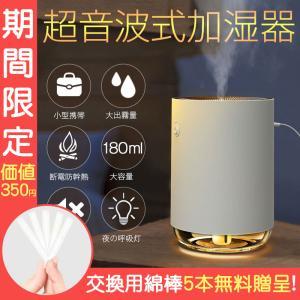 ミニ加湿器 持ち運び便利 加湿器 LEDランプ 超細微 超静音 卓上 車載 USB加湿器 オフィス|teruyukimall