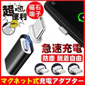 ライトニング 変換 アダプタ マグネット式 コネクタ Lightning iPhone iPhad 防塵 急速充電 充電器|teruyukimall