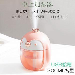 加湿器 充電式 可愛い プレゼント ナイトライト 卓上式 車載 加湿器 USB給電|teruyukimall