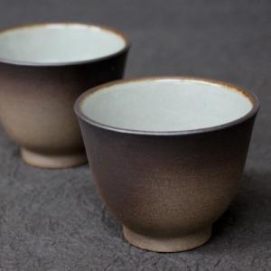 煎茶碗 セット 100cc×2 陶器 藤総製陶所 萬古焼 日本製