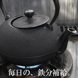 南部鉄器 鉄瓶 直火 IH対応 1.2L アラレ 鉄分補給 及春鋳造所 日本製