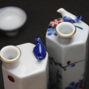 うぐいす徳利&盃2個セット 美濃焼 高木陶器 日本製