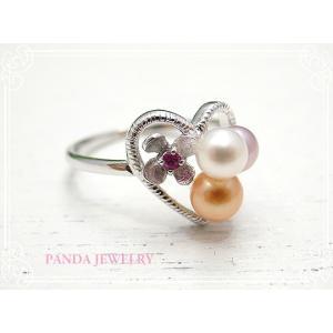 指輪 てんこ盛りパールリング シルバー 9号 //PANDA JEWELRY|tesorocoltd