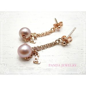 シンデレラパール ピアス ダイヤハート(ピンクゴールドカラー) //PANDA JEWELRY|tesorocoltd