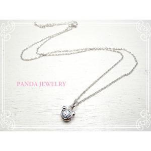 プチパンダ ネックレス (ブルー) シルバー //PANDA JEWELRY|tesorocoltd