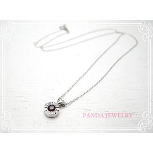 K10WG キラキラハートのネックレス ガーネット ホワイトゴールド ペンダント //PANDA JEWELRY|tesorocoltd