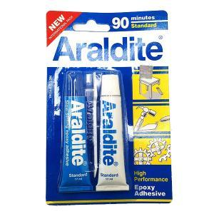 araldite アラルダイト エポキシ系 接着剤 //青//2液性 / 修理 クラフト メタル ウッド セラミック ガラス プラスティック ジュエリー
