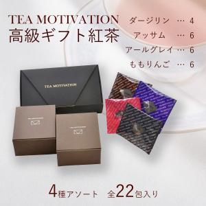 紅茶 ギフト ギフト紅茶 お中元 ティーバッグ 最高級 高品質 TEA MOTIVATION 22包...