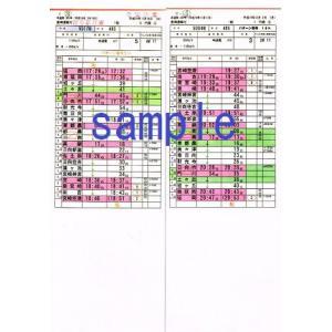 運転士用時刻表(レプリカ) 485系 特急電車 5084M「ひゅうが4号」 485系 特急電車 5017M「にちりん17号」