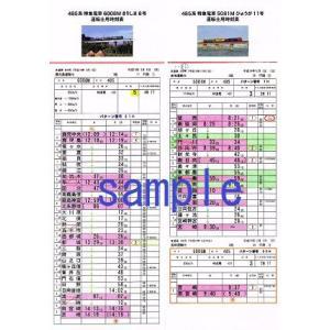 運転士用時刻表(レプリカ) 485系 特急電車 5081M「...