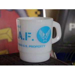 U.S. AIR FORCE プラスチックスタッキングマグカップ ミリタリー エアフォース アメリカ雑貨 アメリカン雑貨|texas4619
