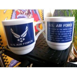 U.S. AIR FORCE スタッキングマグカップ ミリタリー エアフォース アメリカ雑貨 アメリカン雑貨|texas4619