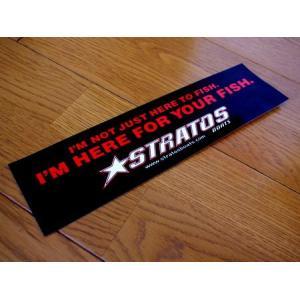 STRATOS BOATS バンパーステッカー バスフィッシング 釣り アメリカ雑貨 アメリカン雑貨|texas4619