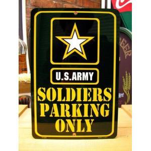 ティンサインプレート(SOLDIERS PARKING ONLY) アーミー 看板 インテリア アメリカ雑貨 アメリカン雑貨|texas4619