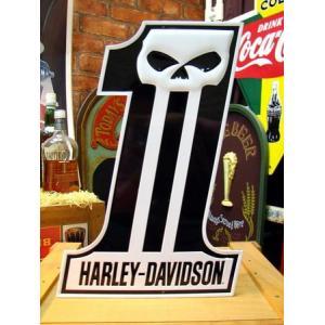 ハーレーダビッドソン(HARLEY-DAVIDSON) ティンサインプレート(SKULL) 看板 インテリア アメリカ雑貨 アメリカン雑貨 texas4619