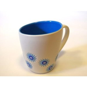 M&M'S エムアンドエムズ フラワーマグカップ(ブルー) マグカップ アメリカ雑貨 アメリカン雑貨|texas4619