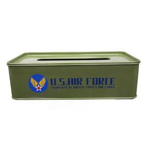 U.S. AIR FORCE ティッシュケース(カーキ) ミリタリー エアフォース アメリカ雑貨 アメリカン雑貨|texas4619