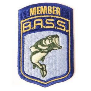 B.A.S.S. メンバーワッペン バスフィッシング 釣り アメリカ雑貨 アメリカン雑貨|texas4619