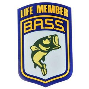 B.A.S.S. ライフメンバーステッカー バスフィッシング 釣り アメリカ雑貨 アメリカン雑貨|texas4619