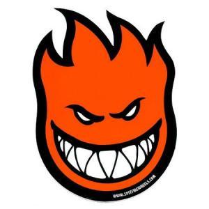 スピットファイアー ビッグヘッド ステッカー(オレンジ) SPITFIRE WHEELS アメリカ雑貨 アメリカン雑貨|texas4619