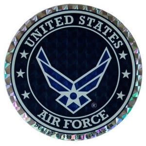 U.S. AIR FORCE ホログラムステッカー ミリタリー エアフォース アメリカ雑貨 アメリカン雑貨|texas4619