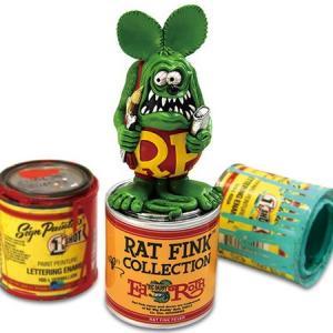 ラットフィンク ペイント缶スタチュー RAT FINK フィギュア アメリカ雑貨 アメリカン雑貨|texas4619
