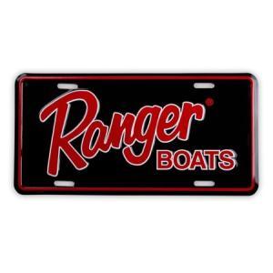 Ranger BOATS コマーシャルプレート(BK/RD) バスフィッシング 釣り アメリカ雑貨 アメリカン雑貨|texas4619