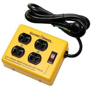 レディキロワット 4 OUTLET STEEL CASE 4口延長コード 節電スイッチ付 アメリカ雑貨 アメリカン雑貨|texas4619