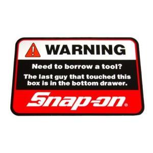 スナップオン Snap-on ステッカー(WARNING) アメリカ雑貨 アメリカン雑貨 texas4619