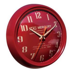 MERCURY METRO MONTGOMERY WALL CLOCK(バーガンディー) マーキュリー 壁掛け時計 ウォールクロック アメリカ雑貨 アメリカン雑貨|texas4619
