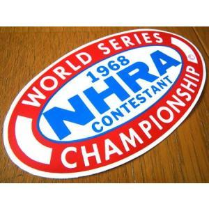 レーシングステッカー(NHRA 1968 WORLD SERIES) アメリカ雑貨 アメリカン雑貨 texas4619