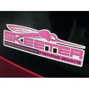 SKEETER BOATS ウィンドウデカール ピンク バスフィッシング 釣り アメリカ雑貨 アメリカン雑貨|texas4619