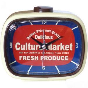 レトロアラームクロック(Culture Market) 目覚まし時計 インテリア アメリカ雑貨 アメリカン雑貨|texas4619