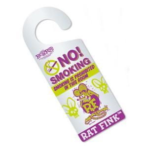 ラットフィンク ドアハンガー(NO! SMOKING) RAT FINK アメリカ雑貨 アメリカン雑貨|texas4619