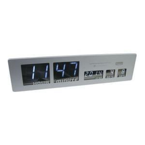 LEDクロック SHARON(シルバー) シャロン 電波時計 インテリア|texas4619