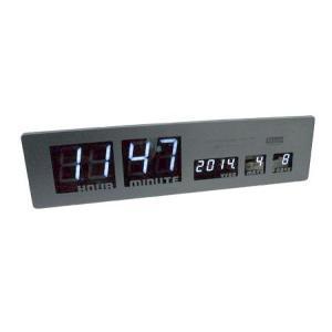 LEDクロック SHARON(ブラック) シャロン 電波時計 インテリア|texas4619