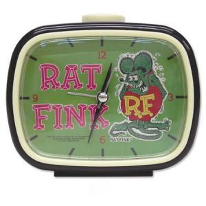 ラットフィンク レトロアラームクロック(グリーン) RAT FINK 目覚まし時計 アメリカ雑貨 アメリカン雑貨|texas4619
