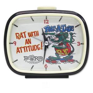 ラットフィンク レトロアラームクロック(ホワイト) RAT FINK 目覚まし時計 アメリカ雑貨 アメリカン雑貨|texas4619