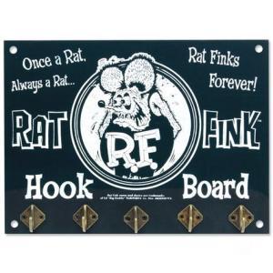 ラットフィンク 木製フックボード(ブラック) RAT FINK インテリア アメリカ雑貨 アメリカン雑貨|texas4619